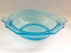 Hocking Blue Mayfair Depression Glass Bowl