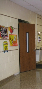 Back to school classroom doorway
