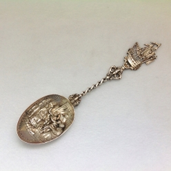 St. Nicolaas Avond Sterling Silver Antique Spoon
