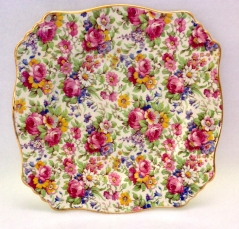 Royal Winton Summertime Chintz Square Luncheon Plate
